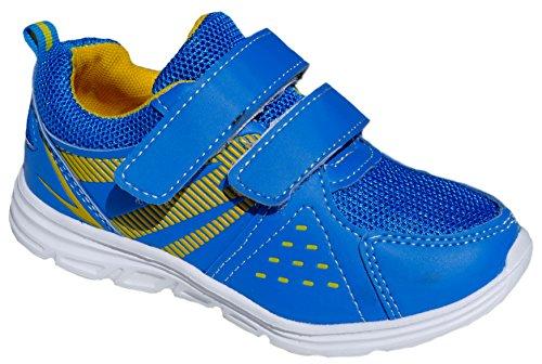 gibra , Baskets pour garçon Bleu/jaune