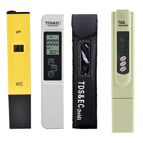 Laileya 3pcs / lot Digital TDS dell'acqua del tester del pHmetro della penna TDS CE pratico acquario filtro purezza di qualità dell'acqua del tester