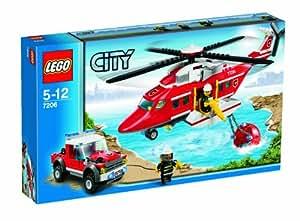 LEGO - 7206 - Jeu de Construction - LEGO City - L 'Hélicoptère des Pompiers