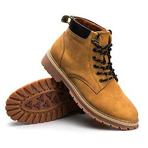 Martin autunno e inverno high-top stivali alti per aiutare gli scarponi da uomo britannico utensili imbottiti di neve in cotone naturals