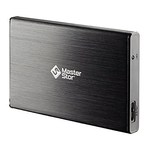 Masterstor 160 Go externe disque dur USB 3.0 disque dur ultrarapide 2,5 pouces pour SATA portable disque dur portable 1 an garantie noir (160GB)