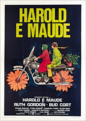 Wood print 90 x 130 cm: Harold and Maude by Everett Collection