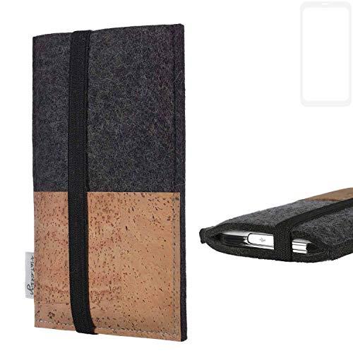 flat.design Handy Hülle Sintra für Xiaomi Blackshark Helo Handytasche Filz Tasche Schutz Kartenfach Case Natur Kork