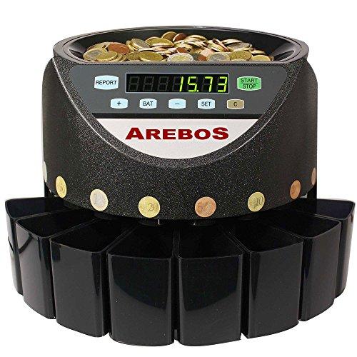 Münzzähler Münzzählmaschine Münzsortierer Geldzählmaschine Automatisch für Euro Münzen