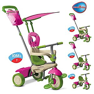 smart trike 4 in 1 vanilla tricycle pink green amazon. Black Bedroom Furniture Sets. Home Design Ideas