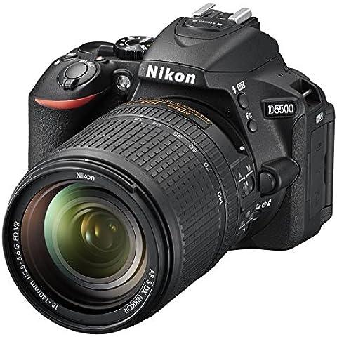 Nikon D5500 - Cámara digital Reflex de 24.2 MP + AFS DX 18-140 mm f/3.5-56G ED VR, color negro