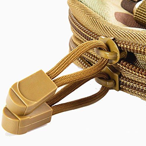 Taktische Gürtel Hüfttaschen Gürteltasche Multifunktionen Camping Hüfttasche Beutel Handy Paket Pouch Tasche Für Außen Training Kampfsport Reise Klettern Laufen Radfahren Schwarz