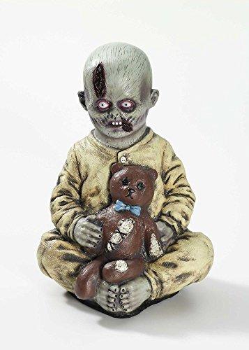 oween Dekoration Zombie Horror Teddybär Baby 40cm ()