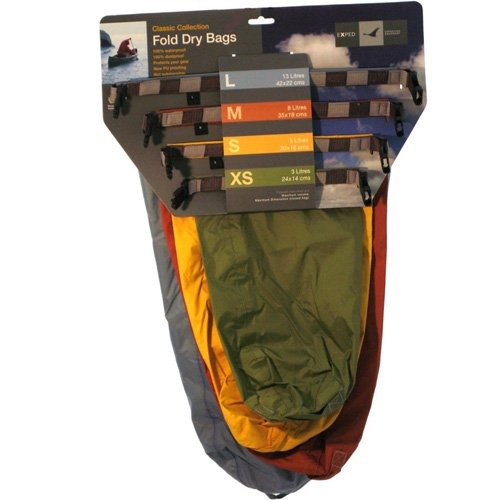 EXPED FOLD DRYBAG CLASSIC 4 PACK SET (X-SMALL - LARGE) -