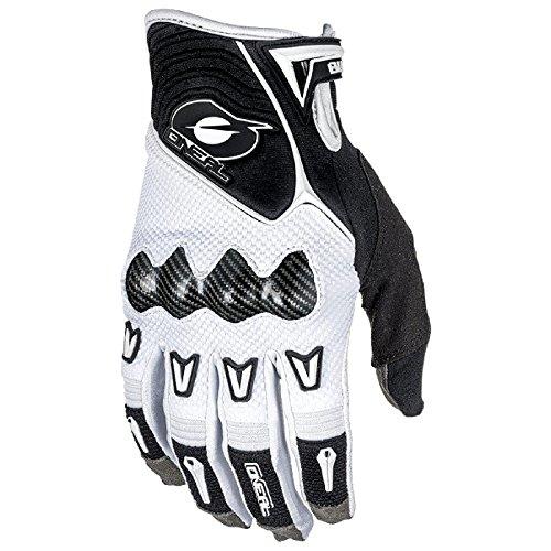 O'Neal Butch Carbon MX Handschuhe Motocross Enduro Offroad DH Downhill Knöchel Schutz, 0468, Farbe Weiß, Größe L