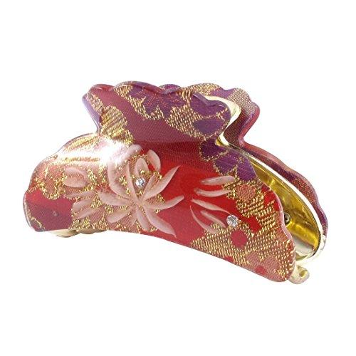 Sourcingmap femmes Blooming Motif floral Tête Pinces à cheveux griffes, Rouge
