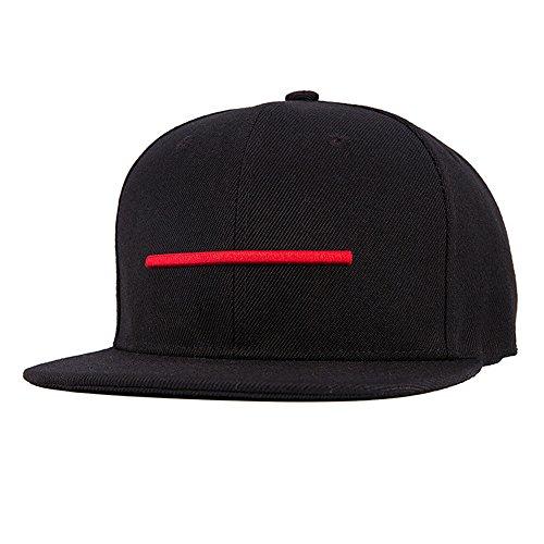 Uomini Ragazzi Moda 3D Ricamo Linea Orizzontale Berretto Da Baseball Cappello Di Hip Hop