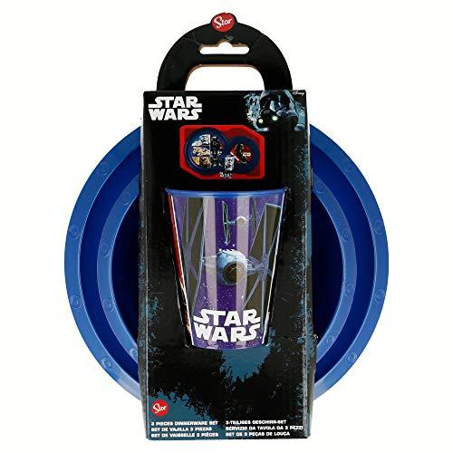Set Easy 3 PCS. (Assiette, bol et verre 260 ML) dans un étui Star Wars Classic