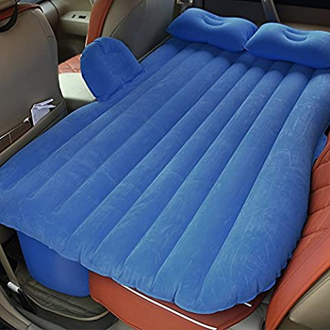 SkySea coche cama inflable colchón de viaje en coche de alta resistencia asiento trasero se extienden colchón inflable colchón para coches con bomba de aire