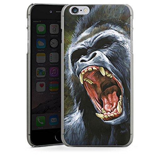 Apple iPhone X Silikon Hülle Case Schutzhülle Gorilla Affe dschungel Hard Case anthrazit-klar