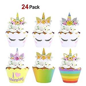 Konsait Unicornio Cupcake Topper de