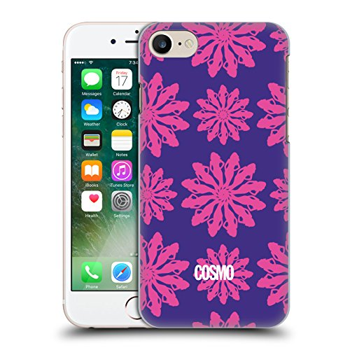 Official Cosmopolitan Yellow And Pink Floral Patterns Hard Back Case for Apple iPhone X Violet And Pink