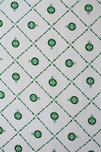 Drap housse ASSE - Collection officielle AS SAINT ETIENNE - Taille 140x190 cm.