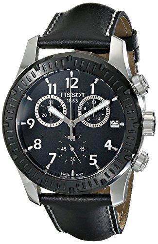Tissot Herren-Armbanduhr Chronograph Quarz Leder T039.417.26.057.00 (Tissot Uhren Männer Luxus)