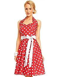 Kleid Damen 50er Polka Mayaadi-Deluxe Petticoat Rockabilly HS-5101