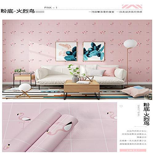 lsaiyy Tapete selbstklebend wasserdicht niedlich Schlafzimmer warm Mädchen Raumdekoration Tapete-60CMX3M