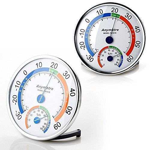 Higrómetro y Termómetro Zogin medidor de la temperatura y humedad para interior y exterior