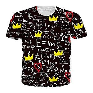 ZzSTX Drucken T-Shirt Sommer Männer Frauen Plus Größe 3D T-Shirt Casual Unisex Sportwear