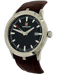 Swiss Military Hombre Hanowa Fecha Correa de piel color marrón reloj 16–4003.7.04.007.05