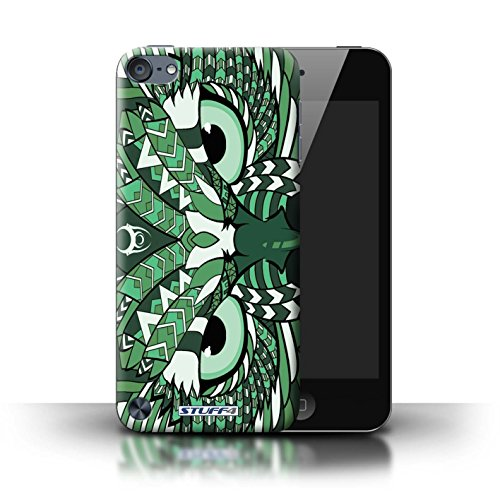 Stuff4® Hülle/Hülle für Apple iPod Touch 5 (5th Generation) / Eule-Grün Muster/Aztec Tier Muster Kollektion (Ipod 4. Generation Eule Case)