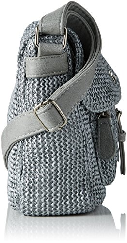 Betty Barclay Damen Bb-1185-Ce Umhängetasche, 9x21x26 cm Grau (Grey)
