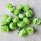Doyeemei, 50 rose artificiali (senza stelo) da 3cm, decorazione per matrimoni Green