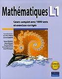 Mathématiques L1 - Cours complet avec 1000 tests et exercices corrigés
