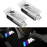 VOYOMO 2 Stück Autotür Einstiegsleuchte Projektion Türeinstiegbeleuchtung mit Logo für E90 E91 E92 E93 M3 E60 E61 F10 F07 M5