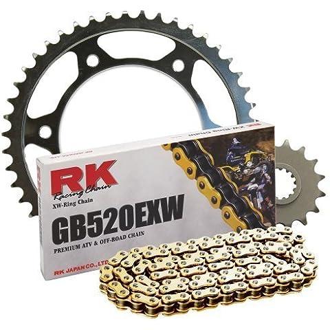 RK Racing Chain 4044-040SG e posteriore, pignone GB520EXW OE-Kit di lampadine di ricambio da RK Racing Chain