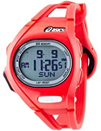 Asics CQAR0110 - Reloj con correa de acero para hombre, color rojo / gris