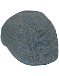 Check design flat cap with pre formed peak, Available in dark grey or brown.Available in 4 sizes-57cm,58cm,59cm or 60cm. BNWT (59cm, grey)