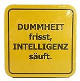 Wohnen & Dekorieren 15 Bierdeckel Dummheit Spruchdeckel Spruch Fun Schild Sprüche Deko GMT 4