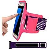 """EOTW Brazalete deportivo para Samsung S6/7 (5.1"""")Antideslizante con velcro y bolsillos para llevar móvil ,llaves, dinero ,Ajustable brazalete hasta 9.5"""" a 24.5"""", Perfecto para correr, gimnasio, caminar o quehacer de casa."""