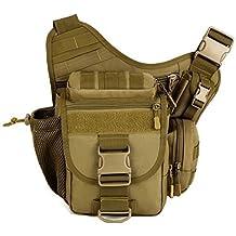 aseun Fashion Nylon multifuncional táctico bolso de la cámara réflex Versipack mochila bolsa impermeable militar Molle bolsas messenger bag