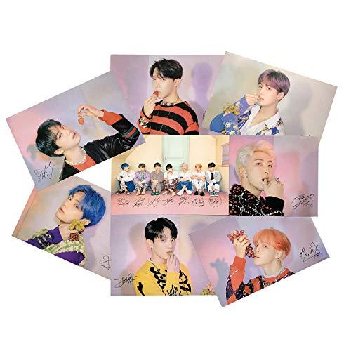LLGL-EU 8 Stück BTS Bangtan Boys Poster, Jungkook/Jimin/V/Suga/Jin/J-Hope/Rap Monster Fanartikel Wanddekoration Wandaufkleber Wandtattoo Sammlung The Army (Style 5)