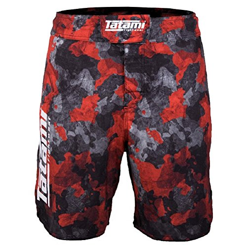 Red Camo Shorts (Tatami No Gi Fight Shorts Renegade - Red Camo - MMA Fight Fitness No Gi Grappling Jiu Jitsu Shorts für Herren Kampfsporthose (M))