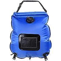 Holzsammlung Ducha solar, bolsa de 20 litros para colgar PVC Plegable Portátil para Camping Excursión Al Aire Libre #Azul