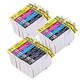 PerfectPrint Kompatibel Tinte Patrone Ersetzen für Epson Stylus B40W BX-300F 310FN 600FW 610FW D120 D120 WiFi D78 D92 DX-4000 4050 4400 4450 T0715 (Schwarz/Cyan/Magenta/Gelb, 14-pack)