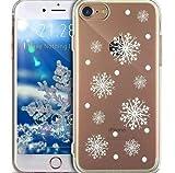 iPhone 5S Hülle,iPhone 5 Hülle,iPhone SE Hülle,Durchsichtig mit Xmas Christmas Snowflake Weißen Weihnachten Schneeflocke Hirsch Muster Klar TPU Silikon Handyhülle Schutzhülle,WeißenSchneeflocke