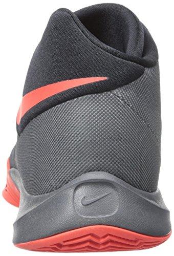 Nike Herren Zoom Hyperquickness 2015 Basketballschuhe, Talla Grau / Orange / Schwarz (Dark Grey / Bright Crimson-Black)