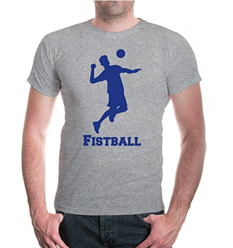 buXsbaum® T-Shirt Fistball V2 Heathergrey-Royal