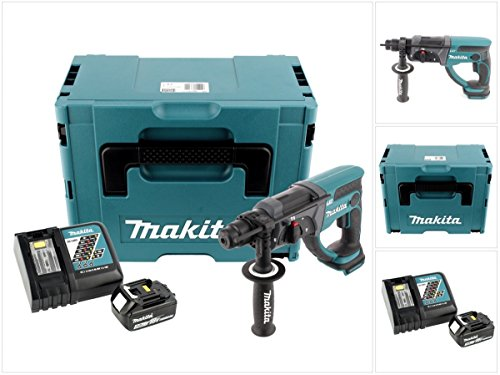 Preisvergleich Produktbild Makita DHR 202 Y1J-P 18 V Akku Kombihammer SDS-Plus im Makpac mit 3,0 Ah Akku und Ladegerät