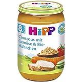 Hipp Couscous mit Gemüse und Bio-Hühnchen, 6er Pack (6 x 220g)