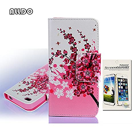 Coque Iphone 4 Cuir - AllDo Housse Protection pour iPhone 4/4S Etui
