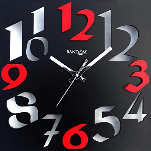 Random Time Zone Wall Clock (Black)